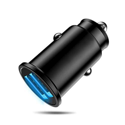 MMOBIEL Multi Compacte 2.0 Auto Oplader Lader Dual USB Port Sigaretten Aansteker Adapter Compatibel met Elektronische Apparaten
