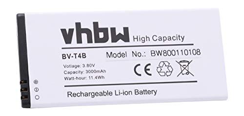 vhbw Li-Ion Batteria 3000mAh (3.8V) per cellulari e smartphone Microsoft/Nokia Lumia 640 XL, 640XL sostituisce BV-T4B.