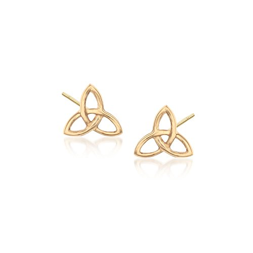 Ross-Simons 18kt Yellow Gold Celtic Trinity Knot Stud Earrings