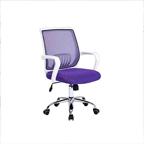 BeingHD Qualitätsbürostuhl, Bürostuhl mit Armlehne Racing Home Office Chair Swivel Chair Lift Net Home Office Computer Stuhl Drehstuhl Lässig (Color : Purple)