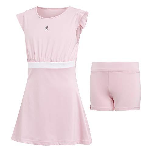 adidas Mädchen Ribbon Kleid, True Pink, 164
