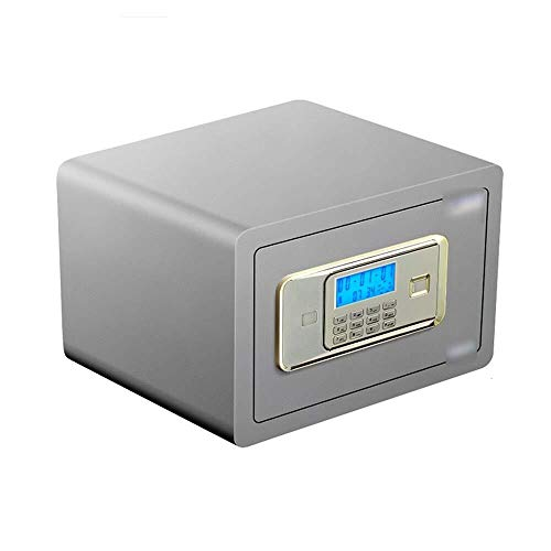 Insurance kabinet Kluizen, 25cm Electronic Digital Password Safe met Double Alarm Small Home Alle Steel Lock Box for opslag Jewelry Kostbaarheden Passport ID-kaart Kluis (Color : Gold)