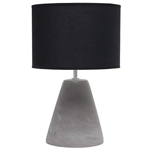 Simple Designs LT2059-BLK Pinnacle Concrete Table Lamp, Black