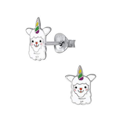 Sterling Silver Llama Alpaca Unicorn Animal Earrings Gift