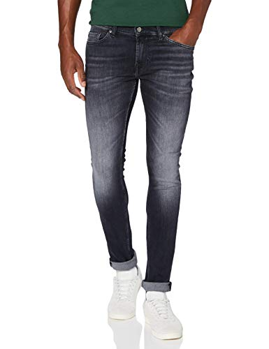 7 For All Mankind Mens Skinny Jeans, Black, 40