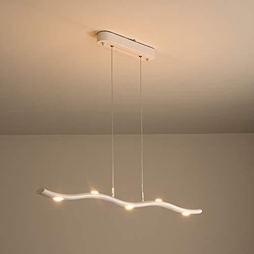 Candelabro de restaurante LED, sala de estar, lámpara de araña casera, blanco, 5