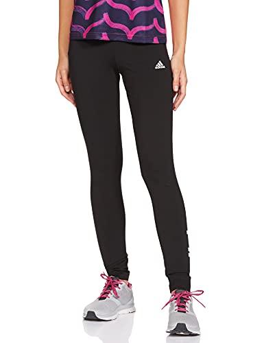 adidas Damen Essentials High-Waisted Logo Tight  Black/White  M
