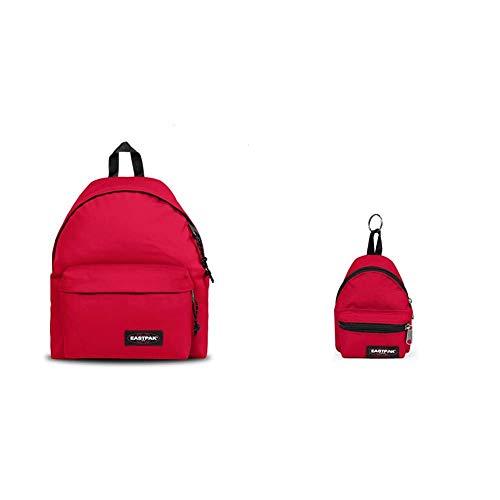 EASTPAK Padded Pak'r Zaino, 40 cm, 24 L, Rosso (Sailor Red) + Mini Padded Portafoglio, 12 cm, Rosso (Sailor Red)