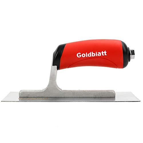 Goldblatt Masonry Finishing Trowel, 8-inch by 3-inch, with Soft Grip Handle