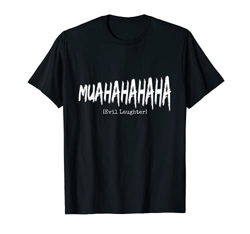 Diseño divertido de villano malvado de Halloween. Camiseta