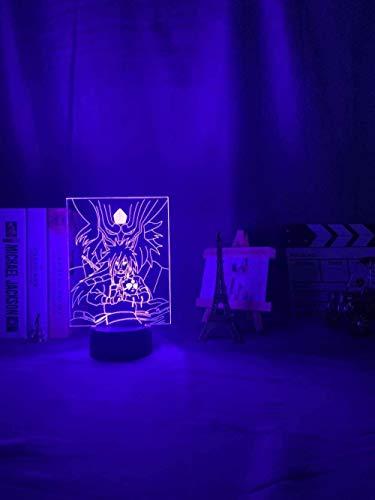 BTEVX Luz de noche LED 3D Lámpara de ilusión óptica 3D Touch Anime japonés Figura linda Luz de noche LED 3D para dormitorio de niños Mejor regalo de cumpleaños Lámpara de noche para niños