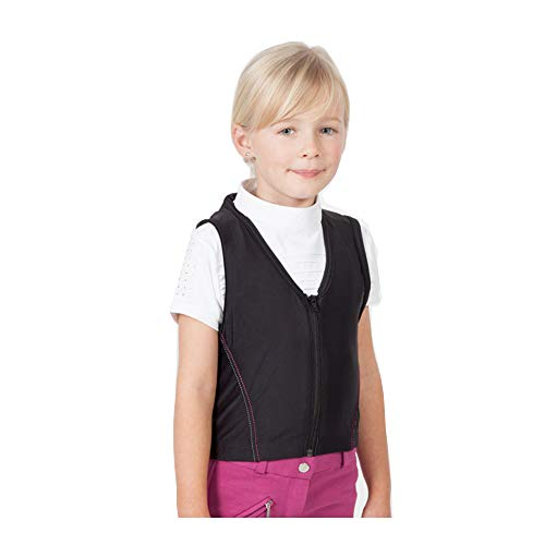 PFIFF 102842 'Schutzengel' Protector de espalda para niños, talla M, negro/rosa