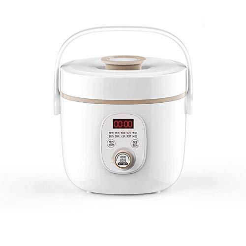 KSW_KKW Cuiseur de Riz (2 litres / 400W) Maison Isolation Intelligente Maison Multifonctions qualité cuillère à Vapeur et Tasses à mesurer Petit électroménager (Color : White)