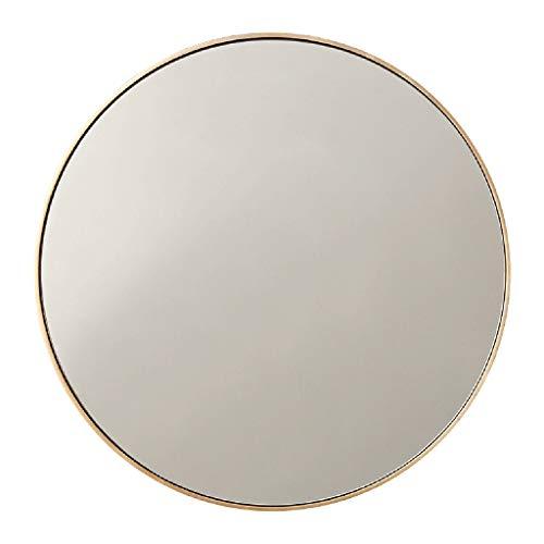 Miroirs muraux Miroirs Miroir 60cm Maison Miroir Rond Miroir de Salle de Bain créatif Miroir de Salle de Bain vanité décoration vanité Miroir Miroir Suspendu (Color : Gold, Size : 61 * 61cm)