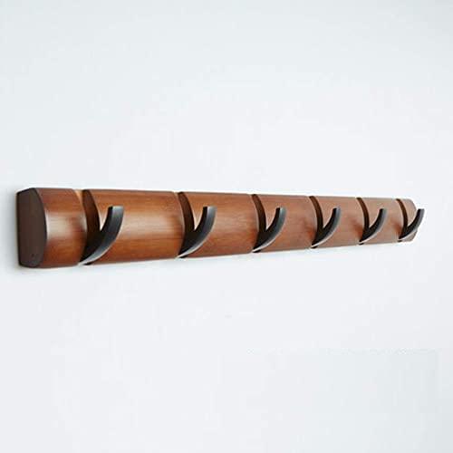 Faltbare Bambus-Kleiderhaken Wandhalterung Kleiderhuthalter Schlafzimmer-Eingangsbereich Türgarderobe Wandhalterung Wandhaken F 74 cm (6 Zoll) (6 Haken)