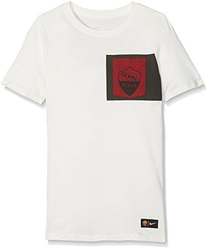 Nike AS Roma B NK Tee Crest T-Shirt für Jungen, Mehrfarbig (Ivory/Team Netz), XL
