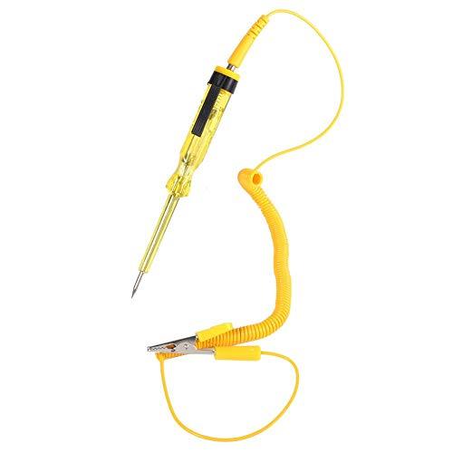 Yctze Auto Auto Fahrzeug Circuit Tester, DC 6 V 12 V 24 V Teststift Bleistift Glühbirne Spannungsprüflicht(Gelb)