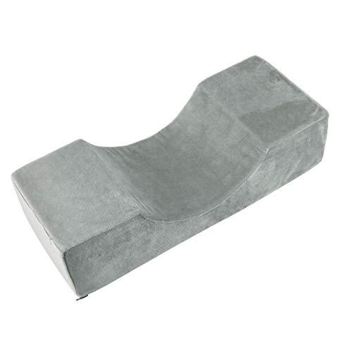 Rehomy Almohada de extensión de pestañas de espuma viscoelástica en forma de U de piel sintética para injerto de pestañas con bolsa de herramientas