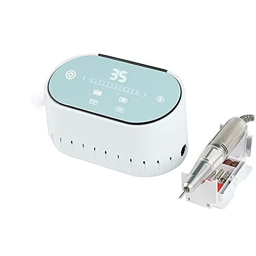 FDYZS Máquina eléctrica de Taladro de uñas, aspiradora de Clavo colector de Polvo de uñas máquina de curado de uñas Herramienta de manicura,Azul