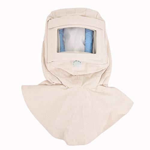 Magiin - Cappellino per sabbiatura, protezione contro il vento, con protezione contro la polvere, colore: bianco
