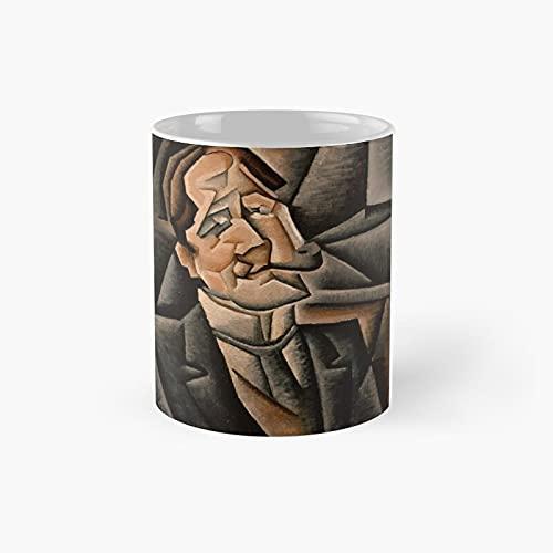 Juan Gris Au Pont Des Arts - Taza clásica con texto en inglés 'Best Funny Coffee 11 oz para amigos de la familia