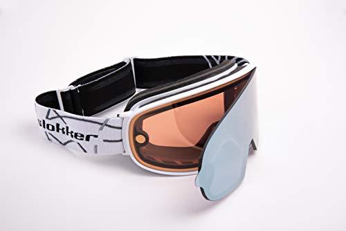 Slokker Skibrille SP1 (White)