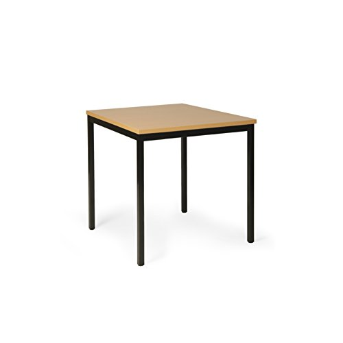 Protaurus Allzwecktisch, LxBxH 1200x800x750 mm, Tischplatte mit Buchendekor 25 mm dick, Gestell RAL 9005 Schwarz