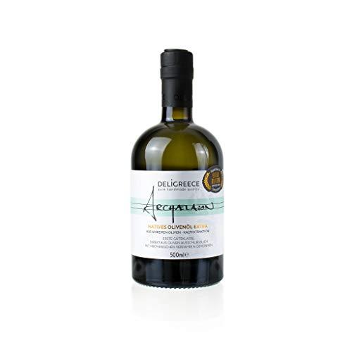 Deligreece - UNGEFILTERT - ARCHAELAION Extra natives Olivenöl aus unreifen Koroneiki Oliven Kaltgepresst unter 24 °C - 250 ml
