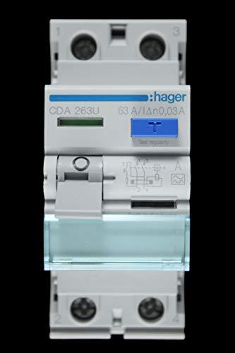 Hager CDA263U 63A RCD 2-polig 30mA