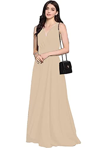 HOS Front Slit Shoulder Strap Maxi Dress   Polyester (Light...