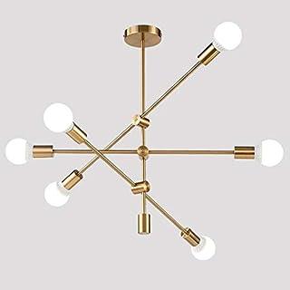 Hobaca® Modern Golden Sputnik Light Lámpara colgante de techo Lámpara de araña Iluminación colgante de mediados de siglo Lámparas de techo rústicas Accesorios para comedor Cocina Vestíbulo