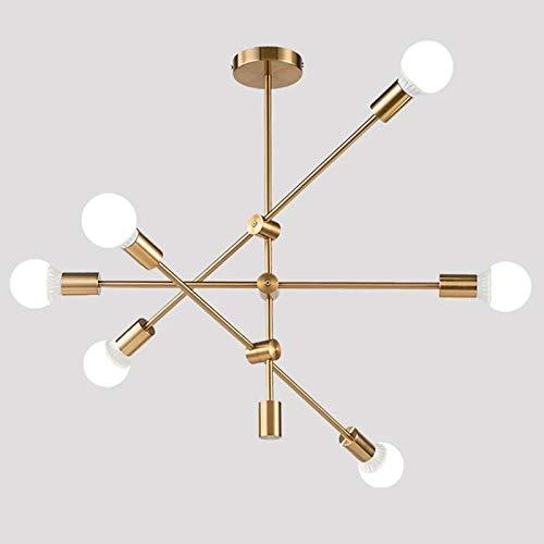 Hobaca® Modern Gold Sputnik Licht Deckenleuchten Pendelleuchte Leuchter Mid Century Pendelleuchte Rustikale Deckenleuchten Kronleuchter für Esszimmer Küche Foyer