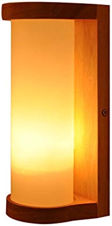 Alvndarling Wandleuchte, Moderne Holz Wandleuchte, Nachttischlampe, Bar, Restaurants, (111-240V, Leuchtmittel nicht enthalten)