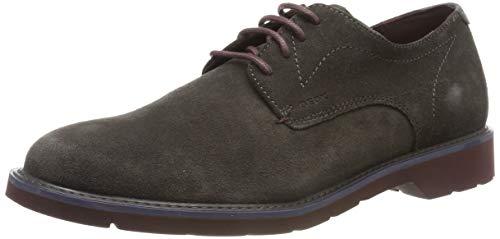 Geox U Garret A, Zapatos de Cordones Derby para Hombre, Marrón (Mud/Bordeaux C6446), 43 EU