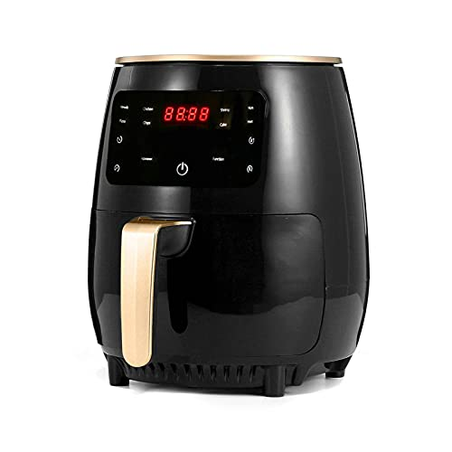 MXJY Freidora de Aire de Cocina oleña, Horno eléctrico de Aire Caliente, Olla sin paletas y Pantalla Digital LCD, fácil de Limpiar, para Chips, Cerdo, Pollo, Filete