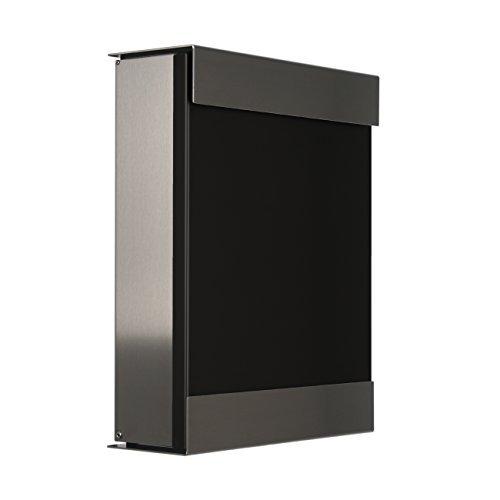 Keilbach Briefkasten glasnost lackierte Front schwarz 071312