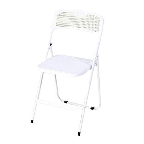 shengjuanfeng Padded Folding Chairs, Computer Chair, Office Chair Ergonomic, Serta Office Chair, Mesh Office Chair, Black Office Chair (Color : White) (Color : White)
