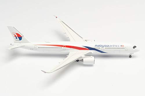 herpa 532990 Malaysia Airlines Airbus A350-900 in Miniatur zum Basteln Sammeln und als Geschenk, Mehrfarbig