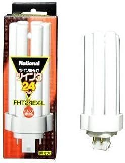 パナソニック 10個セット コンパクト形蛍光灯 24W 3波長形電球色 ツイン蛍光灯 ツイン3(6本束状ブリッジ) FHT24EX-L_set