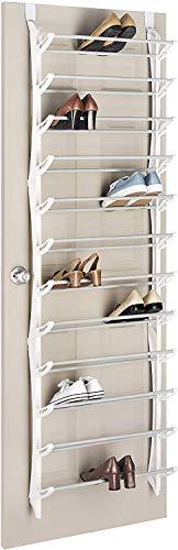 PYROJEWEL Durante el zapato de la puerta, zapatero creativo después de pared sencilla puerta de la casa de múltiples capas de almacenamiento de hierro forjado zapatillas colgando marco del gab