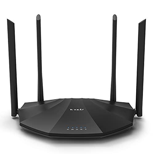 Tenda AC19 - AC2100 Dual Band Gigabit WiFi Router (Fácil Configuración 2.4GHz & 5GHz, 4X Puertos Gigabit, USB 2.0, MU-MIMO, Fibra Óptica, Gast-Red, IPV6)