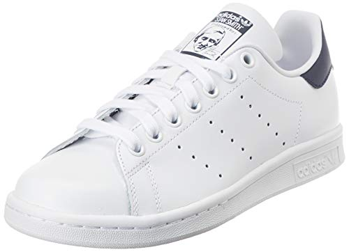 adidas Womens Stan Smith Sneaker, Weiß (Footwear White/Footwear White/Collegiate Navy 0), 39 1/3 EU