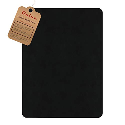 Leather Repair Patch?Self-Adhesive Couch Patch?Multicolor Available Anti Scratch Leather 8X11 Inch Peel and Stick for Sofas, car Seats Hand Bags Jackets (New Black)