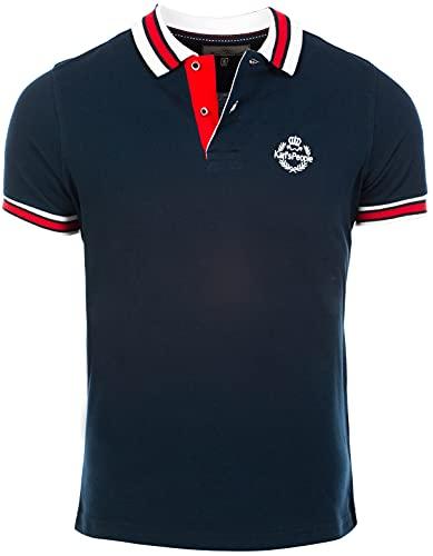 Karl´s People Herren Poloshirt Kurzarm K-129, Navy, XXL