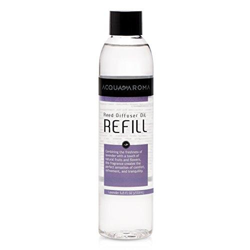 Acqua Aroma Lavender Reed Diffuser Oil Refill 6.8 FL OZ (200ml) Contains Essencial Oils