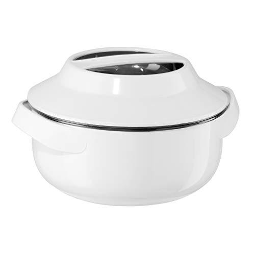 Oggi Microwavable Insulated Serving Bowl-1.6 quart, White