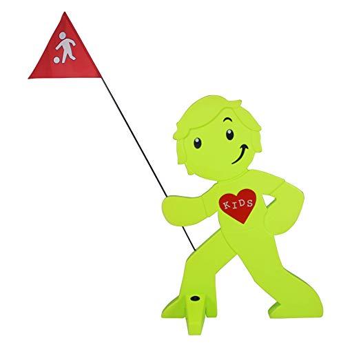 StreetBuddy - Warnfigur, Warnaufsteller, Warnschild für Kindersicherheit (Grün)