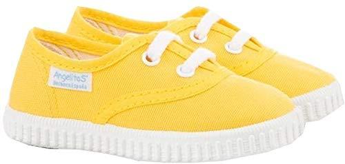 Zapatillas de Lona para Niños y Niñas, Angelitos mod.121, Calzado infantil Made in Spain, Garantia de Calidad. (22, Amarillo)