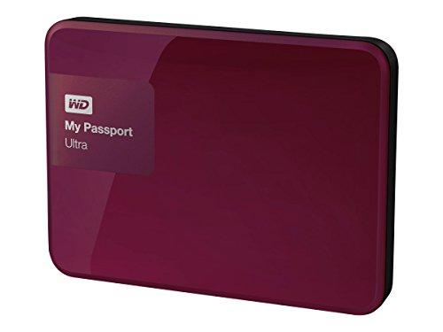 Western Digital My Passport Ultra 1TB–Externe Festplatten (Kabel, rot, 5–35°C, USB 3.0(3.1Gen. 1) Typ A,-20–65°C, HDD)
