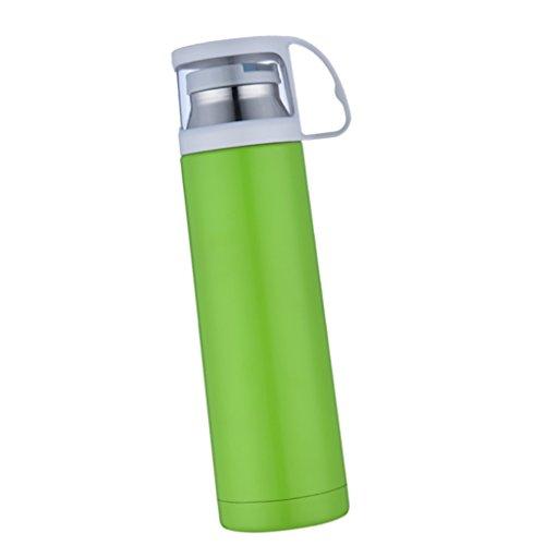 LOVIVER Bebidas Termales Aisladas de Acero Inoxidable de La Botella de Agua del Viaje del Vacío - Verde
